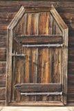 Geroeste de antiquiteit sloot houten deur Van achtergrond Finland erfenis royalty-vrije stock foto's