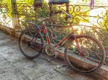 Geroeste fiets stock afbeelding