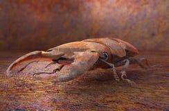 Geroeste het insect van de metaalrobot, 3D illustratie Stock Foto