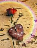 Geroeste liefde stock illustratie