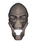 Geroeste metaal vreemde schedel - vooraanzicht vector illustratie