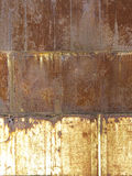 Geroeste metaalachtergrond die in drie secties wordt verdeeld stock foto