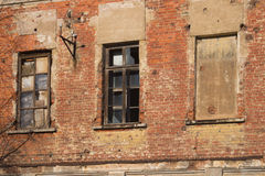 Geroeste oude muurachtergrond Royalty-vrije Stock Fotografie
