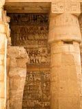 Geroglifici e pitture del tempiale di Luxor Fotografia Stock