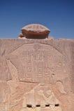 Geroglifici sulle pareti del tempio di Karnak Lyuksor Egipet Immagini Stock Libere da Diritti