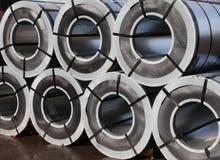 Gerold gegalvaniseerd staal Stock Foto