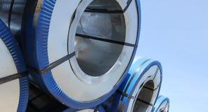 Gerold gegalvaniseerd staal met polymeerdeklaag Stock Foto's