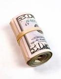 Gerold Pakje het Contante geldofferte van het Vijftig Dollar Rekeningen Amerikaanse Geld stock fotografie