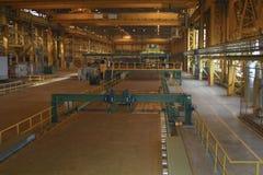 Gerolde bladproductie op ijzerhoudende metallurgie royalty-vrije stock afbeeldingen