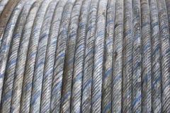 Gerolde de kabel van het staal Royalty-vrije Stock Fotografie