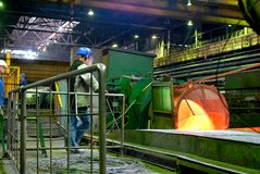 Gerolde draadproductie Stock Foto