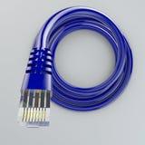 Gerolde ethernet kabel, Internet-verbinding, bandbreedte, breedband royalty-vrije stock afbeeldingen