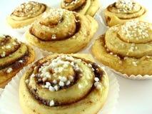 Gerolde koekjes stock foto