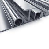 Gerolde metaalproducten Stock Foto's