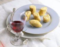 Gerolde pannekoek met ricotta het vullen Royalty-vrije Stock Foto