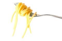 Gerolde spaghetti Stock Foto