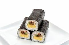 Gerolde sushi Royalty-vrije Stock Afbeeldingen