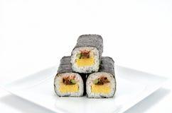 Gerolde sushi Stock Foto