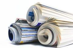 Gerolde Tijdschriften Stock Foto