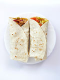 Gerolde tortilla's Royalty-vrije Stock Afbeelding