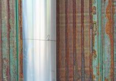 Gerolde zinkbladen stock afbeelding