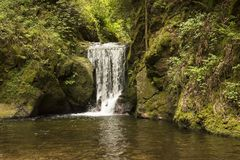 Geroldsauer vattenfall, Baden Baden, Baden WÃ ¼rttemberg, Tyskland Arkivfoto