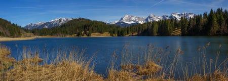 Geroldsee alpino del lago a marzo Fotografie Stock