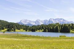 Geroldsee Lake with the Karwendel Mountains Royalty Free Stock Photo