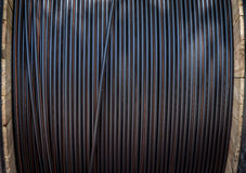 Gerollt herauf Kabel Stockfoto