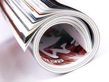 Gerollt herauf Zeitschrift Lizenzfreies Stockbild