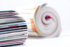 Gerollt herauf Zeitschriften Lizenzfreies Stockfoto