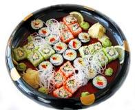 Gerollt und Sushi Stockfotografie