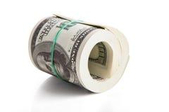 Gerollt US-Dollar Anmerkungen Stockfotos