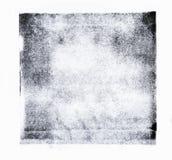 Gerollte Acrylfarbe lokalisiert auf weißem Hintergrund stockfoto