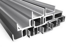 Gerollte Metallu-stange stock abbildung