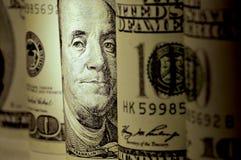 Gerollte US-Dollars Lizenzfreie Stockbilder
