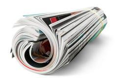 Gerollte Zeitschriften stockfotos