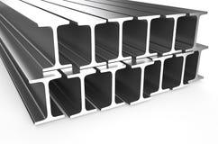 Gerollter Metallh-strahl stock abbildung