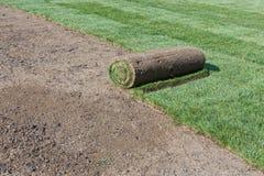 Gerollter Rasen Stockfoto