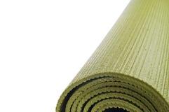 Gerollter Yoga-Matten-Rand-Hintergrund Lizenzfreies Stockfoto