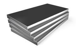 Gerolltes Metall, Blätter lizenzfreie abbildung