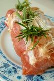 Gerolltes Schweinefleisch Stockfoto