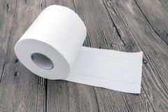 Gerolltes Toilettenpapier Stockfotografie