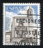 Gerona Cathedral. SPAIN - CIRCA 1979: stamp printed by Spain, shows Gerona Cathedral, circa 1979 Stock Photo