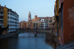 Gerona evening Royalty Free Stock Photo