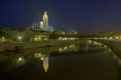 Gerona nights Royalty Free Stock Photography