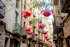 Gerona´s flower festival decoration Royalty Free Stock Photography