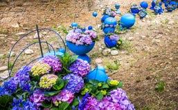 Gerona´s flower festival decoration Stock Photos
