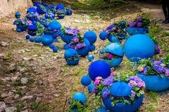 Gerona´s flower festival decoration Stock Image