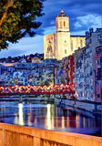 Gerona, Spain, Cathedral and Old-Town by night 2. Gerona, Spain, Cathedral and Old-Town by night Royalty Free Stock Image